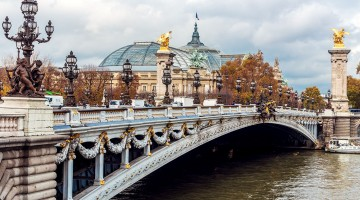Alexander III Bridge on river Seine. Paris